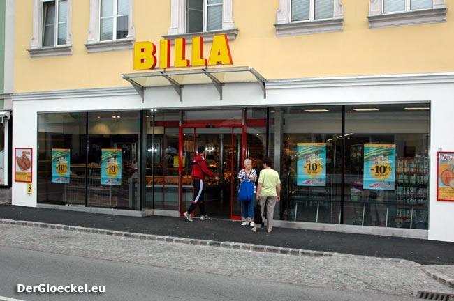 """Der """"neue"""" BILLA im Stadtzentrum von Hainburg/D."""