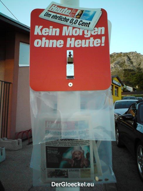 Tageszeitung HEUTE wurde bezahlt