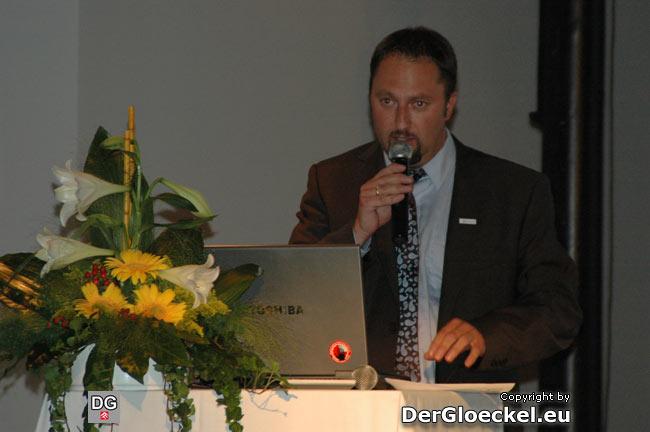 Geschäftsführer Bernhard Fischer vom Römerland Carnuntum bei der Projektvorstellung