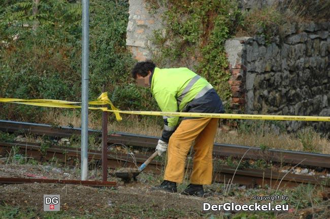 Am 21.10. wurden die Arbeiten direkt ab Bahnkörper fortgesetzt