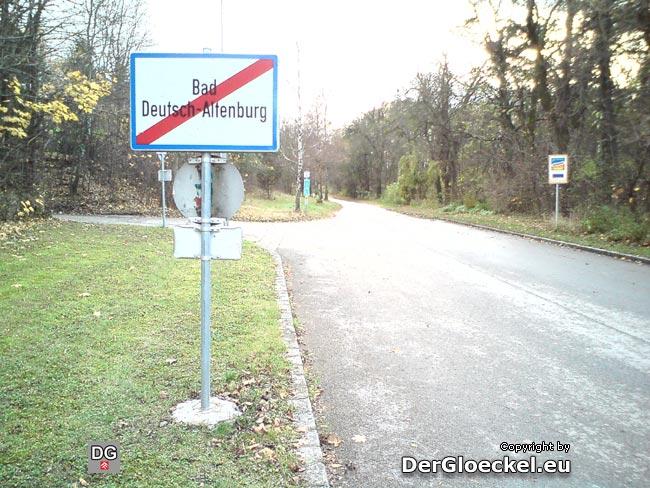 Ortsende in Bad Deutsch Altenburg