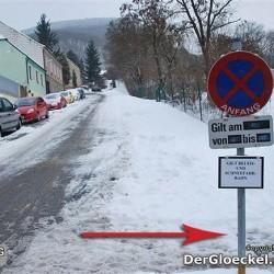 keine Schneeräumung am 7.1. im freizuhaltenden Abschnitt der Straße sorgte für Unmut bei den Anrainern