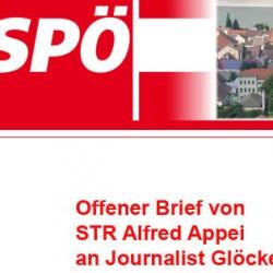 So arbeitet die SPÖ-Hainburg: plötzlich findet sich eine normale e-Mail als OFFENER BRIEF in der Internetpräsenz der SPÖ ohne, daß der Empfänger darüber informiert wurde