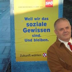 """Diese SPÖ-Wahlwerbung konnte bis zur Veröffentlichung nicht in Hainburg wahrgenommen werden - """"soziales Gewissen"""" des SPÖ-Stadtrates Alfred APPEI?"""