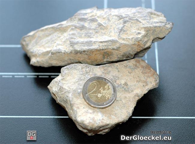 verlorene Ladung - Fundstücke im Größenvergleich - Länge bis zu 13 cm