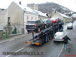 Autotransporter nur 4 Minuten später in der Hummelstrasse