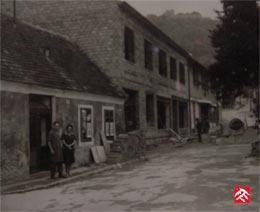 Historische Aufnahme des Geschäftes
