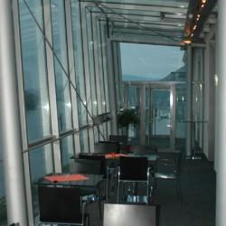 beeindruckende Architektur der gastronomischen Einrichtung in der Kulturfabrik Hainburg