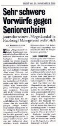 KURIER Veröffentlichung zum Pflegeskandal vom 18.11.2005