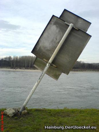 """Ab 9.12.07 wird dann die """"Winkautomatik"""" in Hainburg an der Donau für die Binnenschiffer aktiviert"""