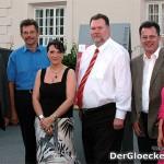 v.l.n.r.: Bgm. Karl Kindl, Stadtamtsdirektor Erich Rieder, Gemeindesekretärin Ingrid Wolfram, Bgm. Ernest Windholz, Bezirkshauptmann Dr. Martin Steinhauser und BgmIn. Ingrid Scheumbauer