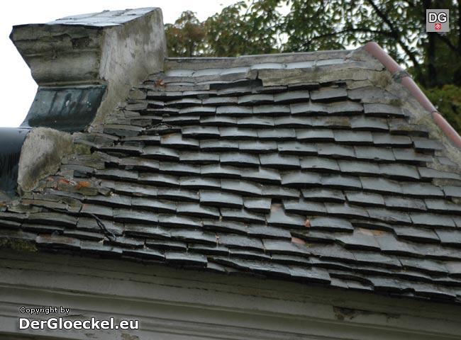 Der Dachschaden der Kapelle