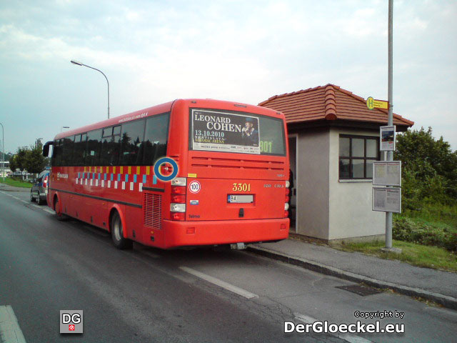 Unfall mit Linienbus der städtischen Verkehrsgesellschaft Bratislava - DPB