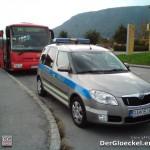 Der Einsatzwagen des Verkehrsunfallkommandos der DPB (Dopravné Nehody)