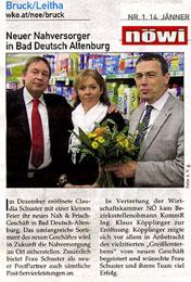 Bericht über die Eröffnung von der NÖ Wirtschaftskammer vom 14.1.2011