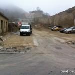 Baustellenzufahrt bei Hauptschule Hainburg