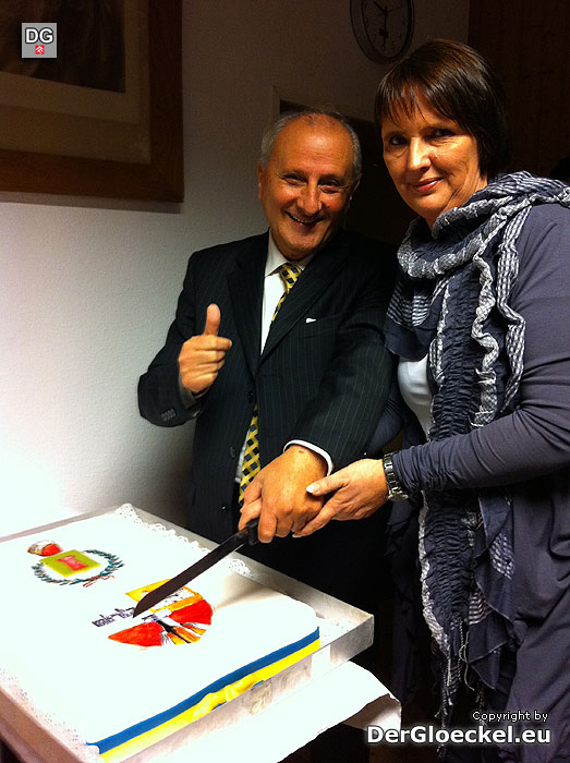 Bürgermeister Rocco Mario Clemeno und Obfrau Petra Wagener