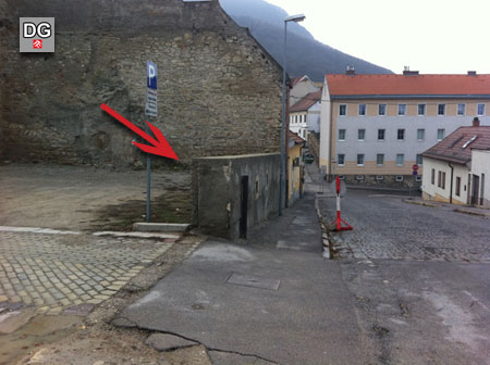 Fundort in Hainburg an der Donau - Babenbergerstraße