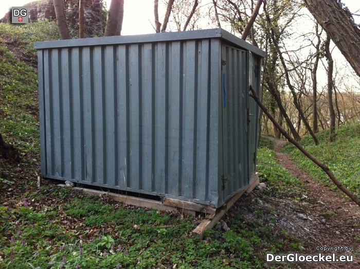 Der Container bei der Ruine Röthelstein | Foto: DerGloeckel.eu